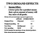 two demand effects17