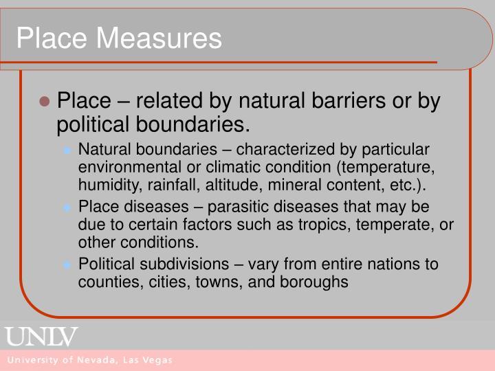 Place Measures