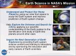 earth science in nasa s mission