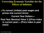 correcting economic variables for the effects of inflation20