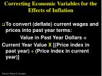 correcting economic variables for the effects of inflation22