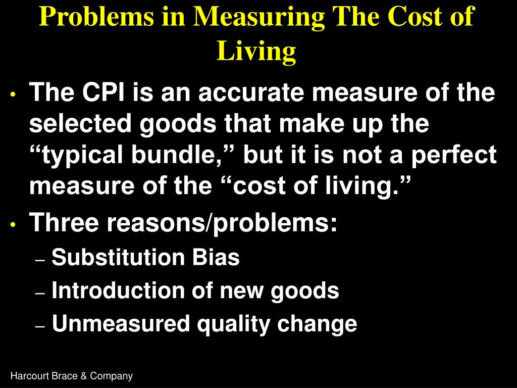 Problems in Measuring The Cost of Living