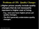 problems of cpi quality changes