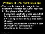 problems of cpi substitution bias