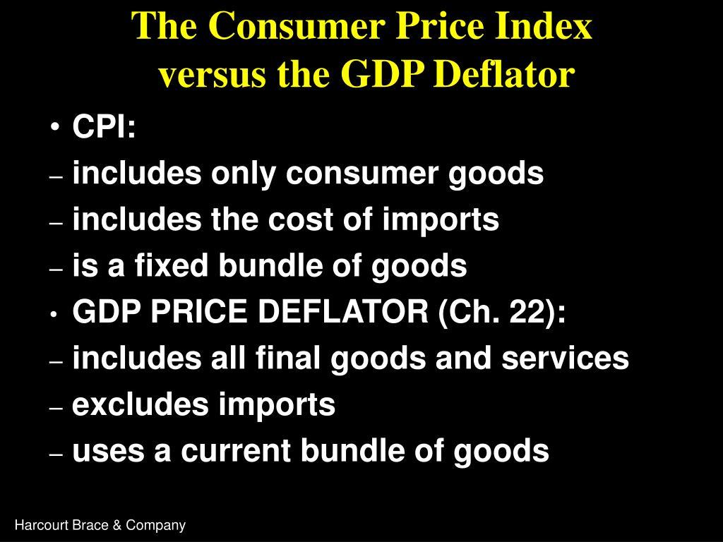 The Consumer Price Index