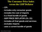 the consumer price index versus the gdp deflator
