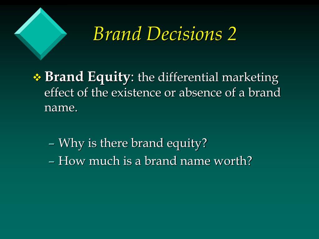 Brand Decisions 2