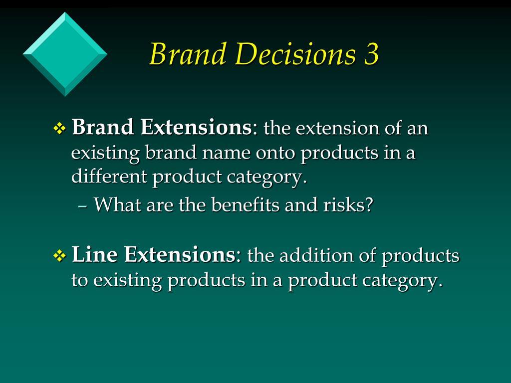 Brand Decisions 3