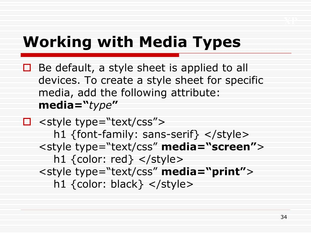 Working with Media Types