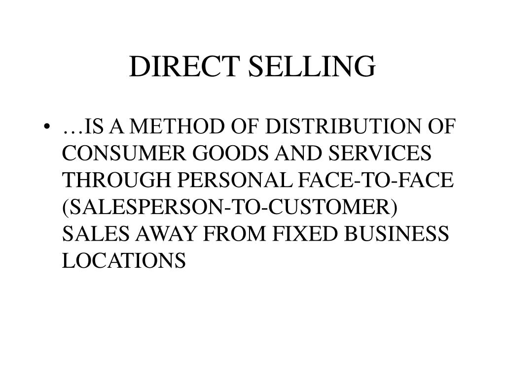 direct selling l.