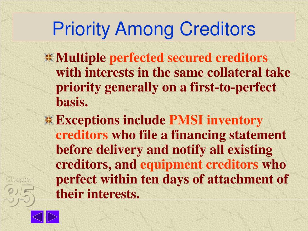 Priority Among Creditors