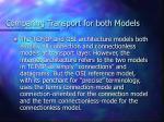 comparing transport for both models1