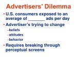 advertisers dilemma