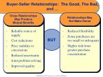buyer seller relationships the good the bad and