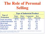the role of personal selling55