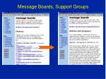 message boards support groups