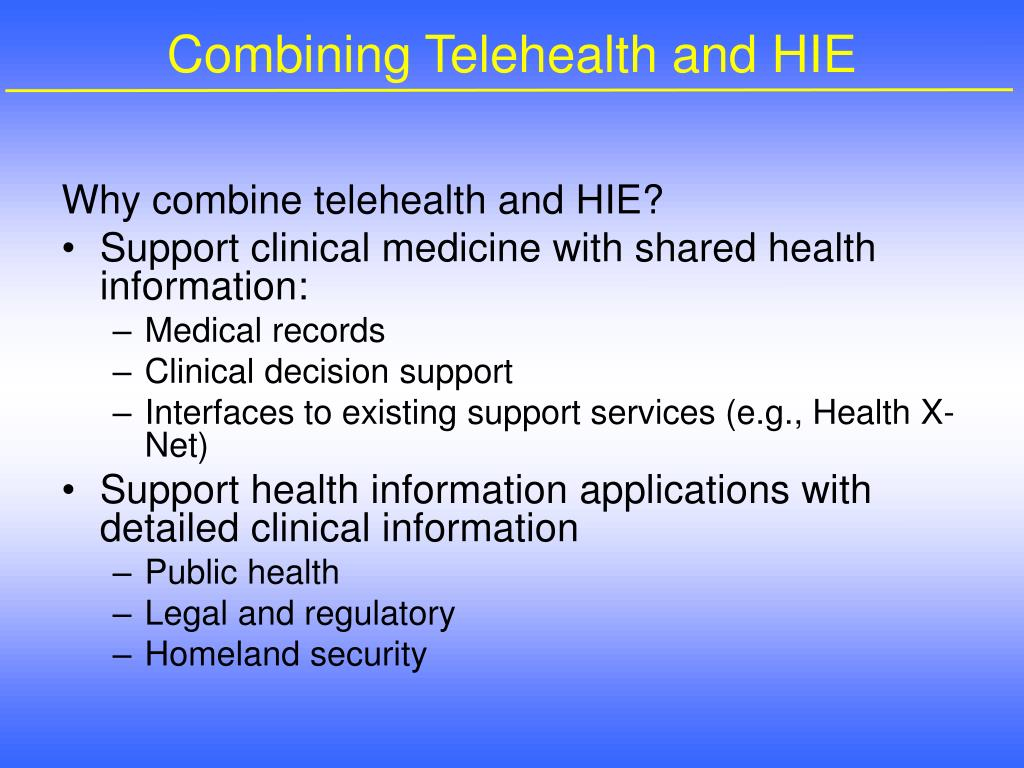 Combining Telehealth and HIE