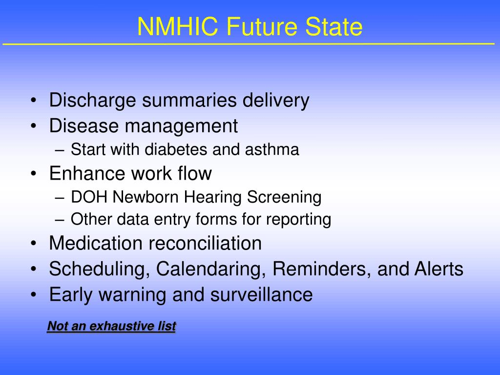 NMHIC Future State