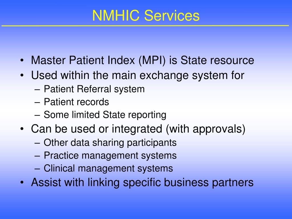 NMHIC Services