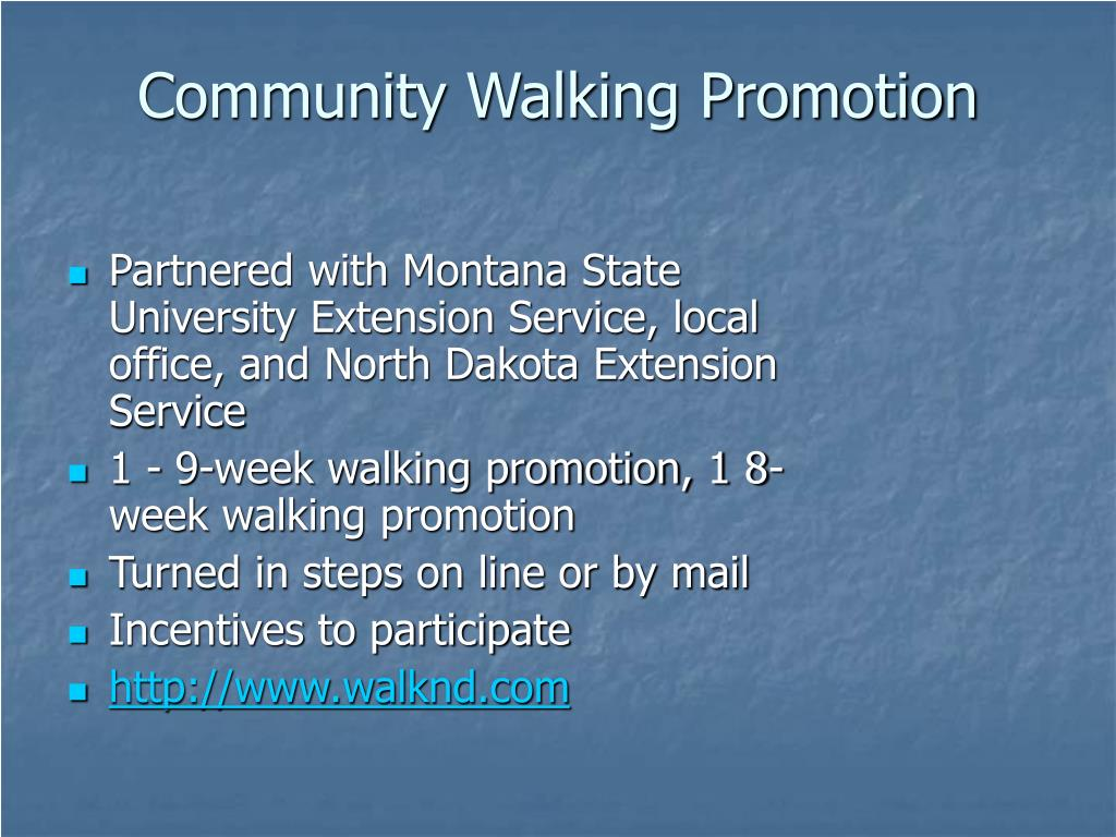 Community Walking Promotion