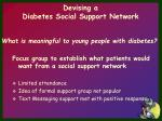 devising a diabetes social support network