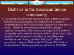 diabetes in the american indian community
