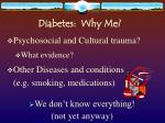 diabetes why me21