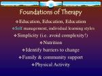 foundations of therapy