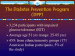 the diabetes prevention program dpp