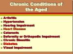 chronic conditions of the aged