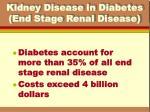 kidney disease in diabetes end stage renal disease