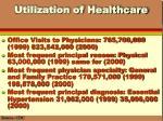 utilization of healthcare