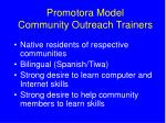 promotora model community outreach trainers