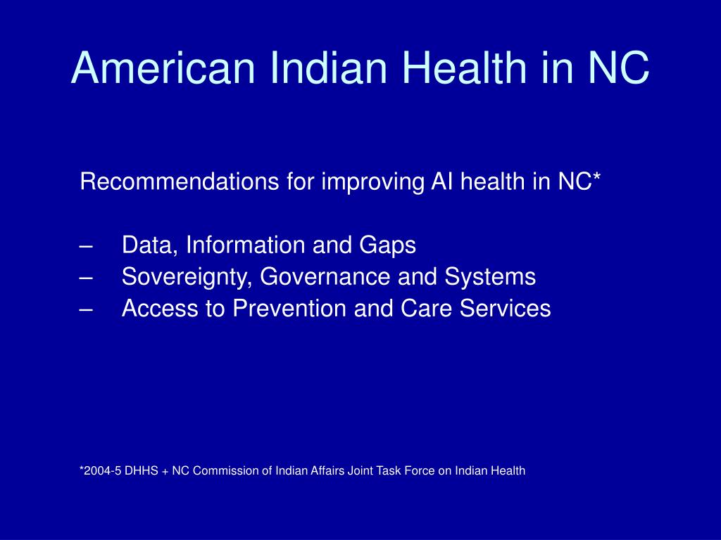 American Indian Health in NC