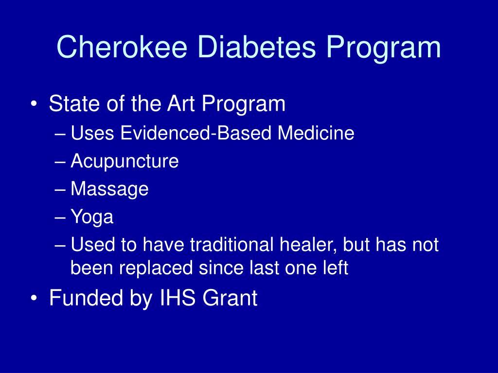 Cherokee Diabetes Program