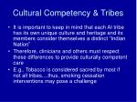 cultural competency tribes