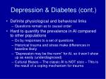 depression diabetes cont