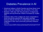 diabetes prevalence in ai