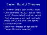 eastern band of cherokee