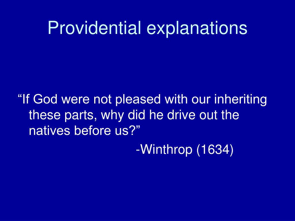 Providential explanations