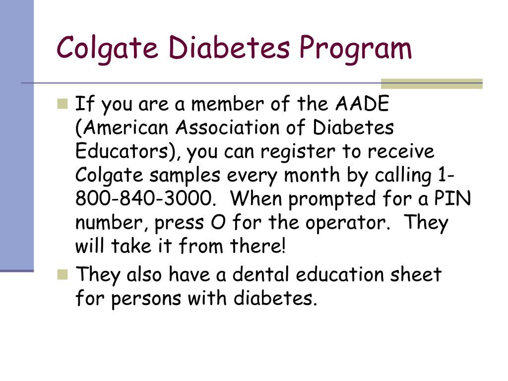 Colgate Diabetes Program