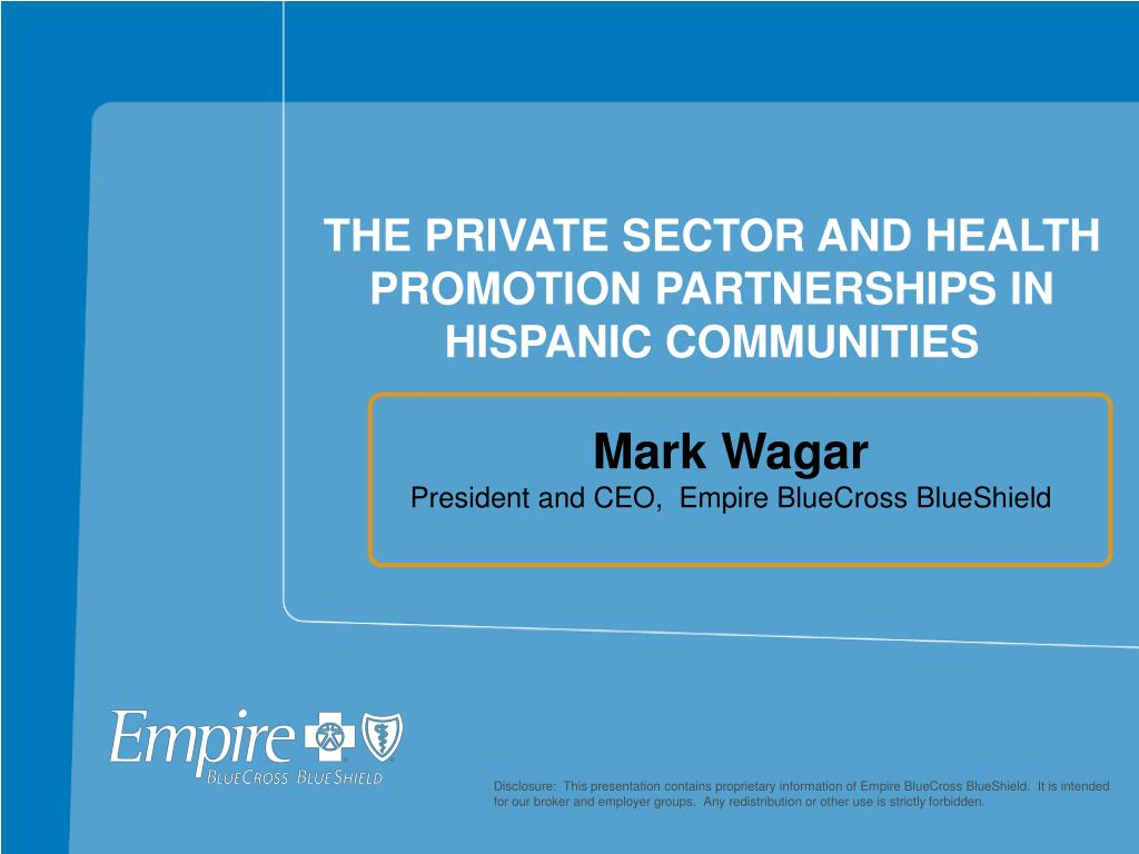 the private sector and health promotion partnerships in hispanic communities l.