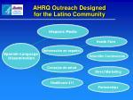 ahrq outreach designed for the latino community