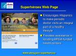 superh roes web page