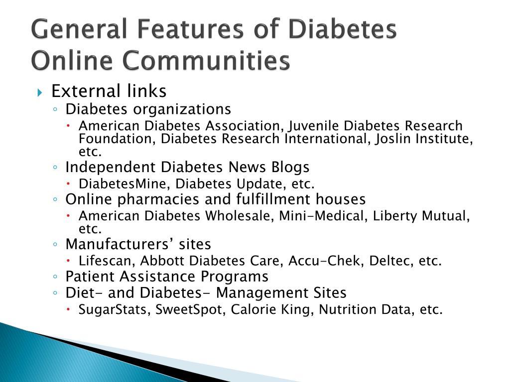 General Features of Diabetes Online Communities