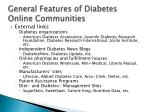 general features of diabetes online communities14