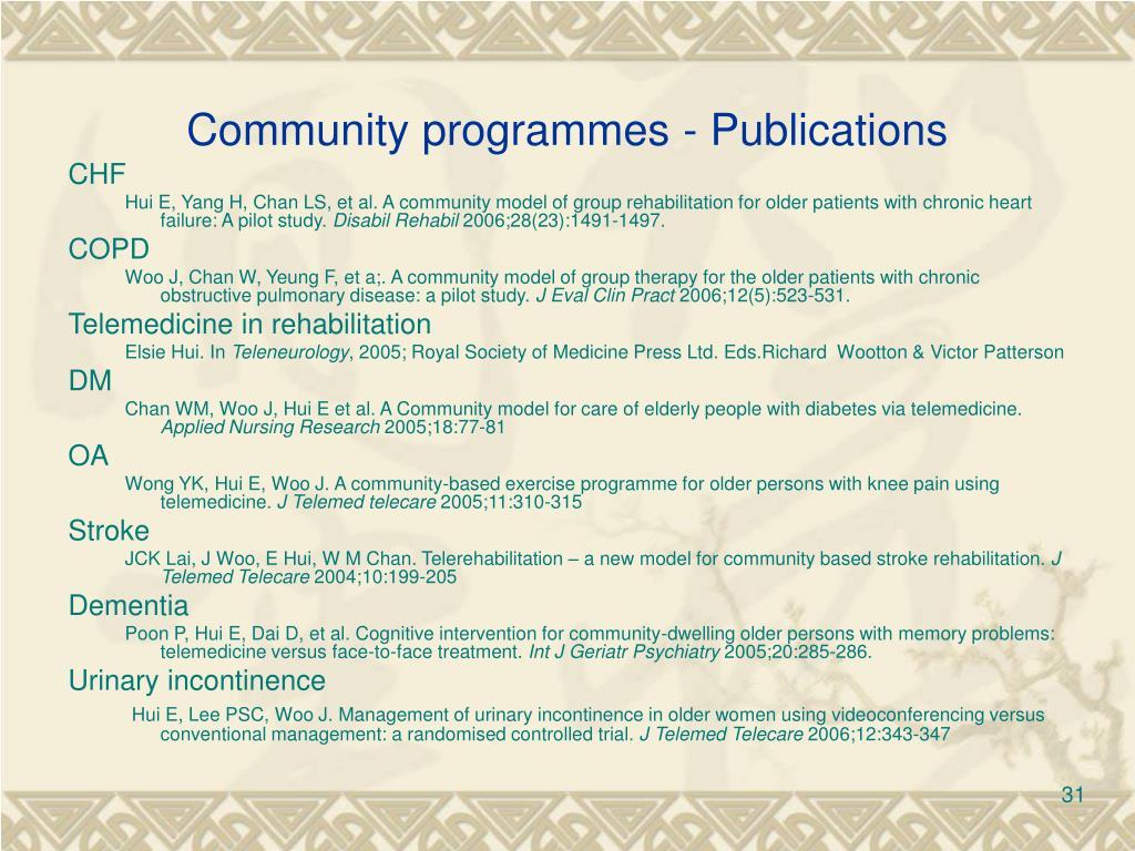 Community programmes - Publications