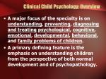 clinical child psychology overview4