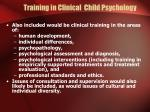 training in clinical child psychology13