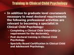 training in clinical child psychology16